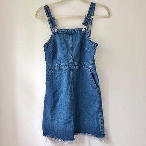 Madewell   Custom Cutoff Denim Jumper Dress